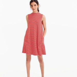 J. Crew Swingy Red & White Dress - S